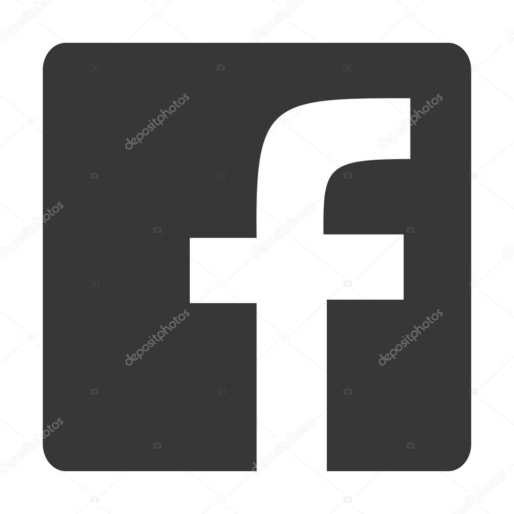 logo facebook en gris