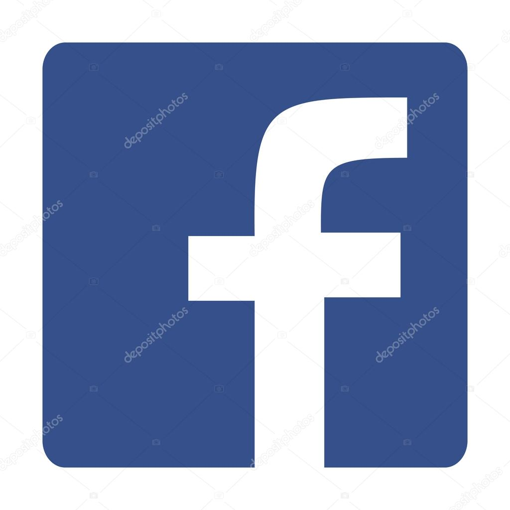 Original Square with Round Corners Blue Facebook Web Icon