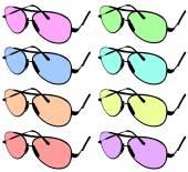 Sada ilustrované sluneční brýle