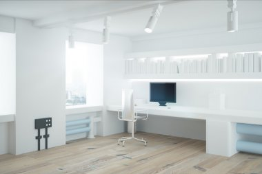 White office interior side