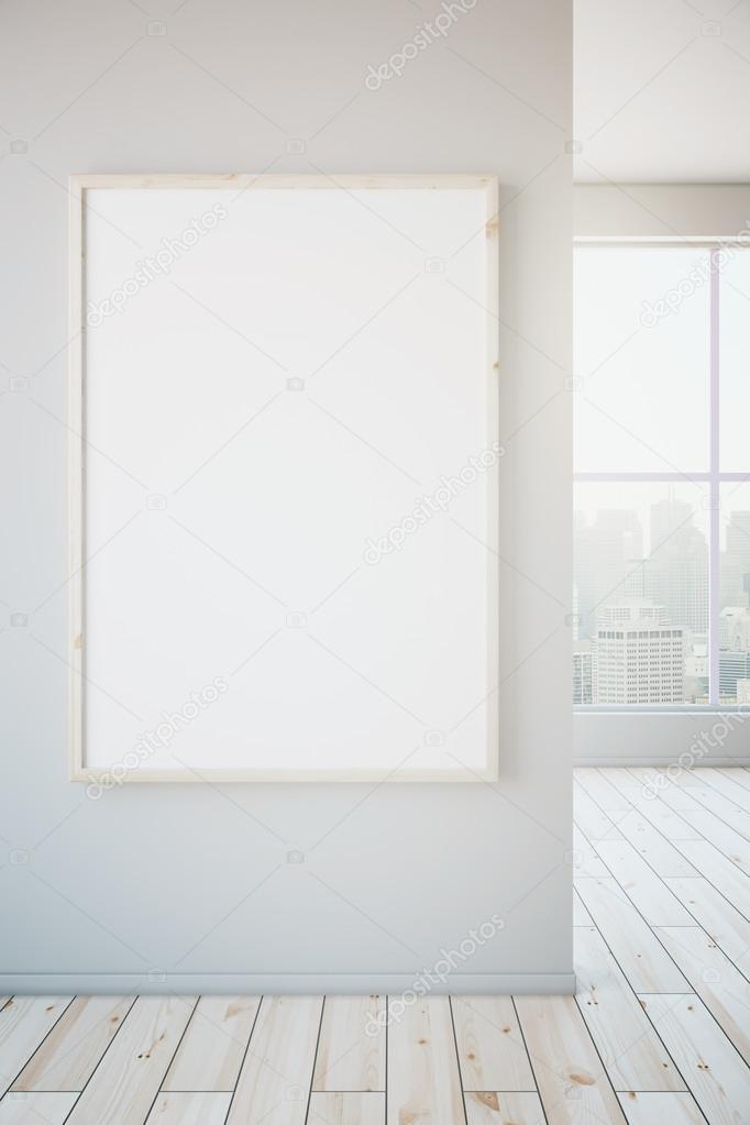 marco blanco en pared blanca — Foto de stock © peshkova #104250778