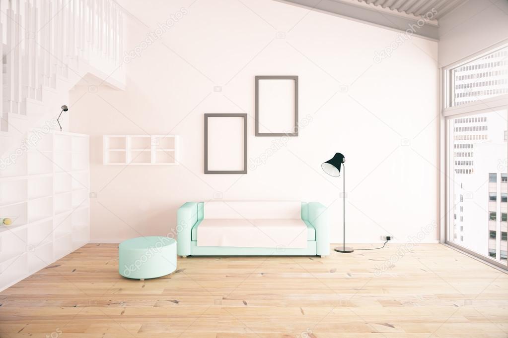 diseño de interiores de la sala de estar — Foto de stock © peshkova ...