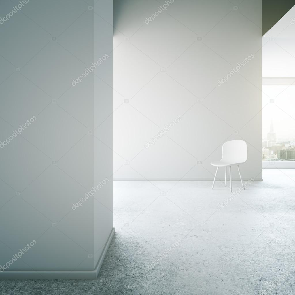 Paredes Concreto SillaMock Dos Con Up En Blanco Interior qSGUMzVp