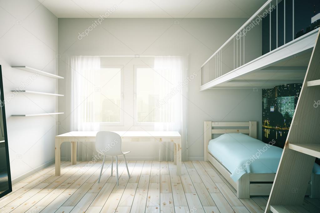 Lichte kind kamer interieur u2014 stockfoto © peshkova #105063976