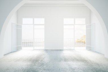 Bright interior with balcony