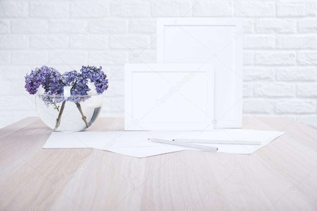 Lilac and blank frames