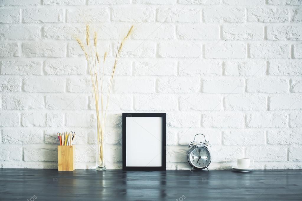 Decoración de marco de cuadro en blanco — Foto de stock © peshkova ...