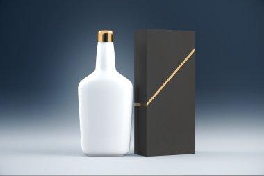 White cognac bottle