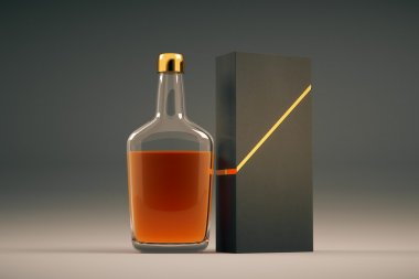 Cognac bottle and packaging