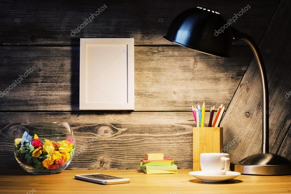 Hipster-Desktop mit Rahmen — Stockfoto © peshkova #113885026