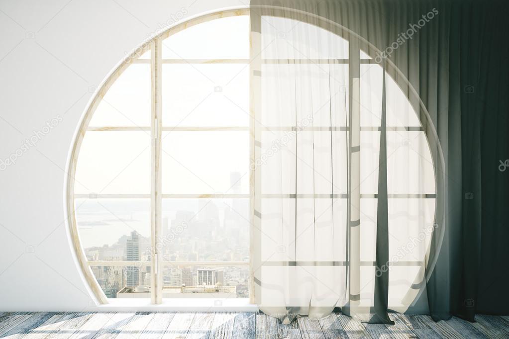 Intérieur Créatif Avec Fenêtre Ronde Photographie Peshkova