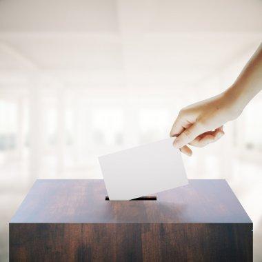 Hand casting vote in interior