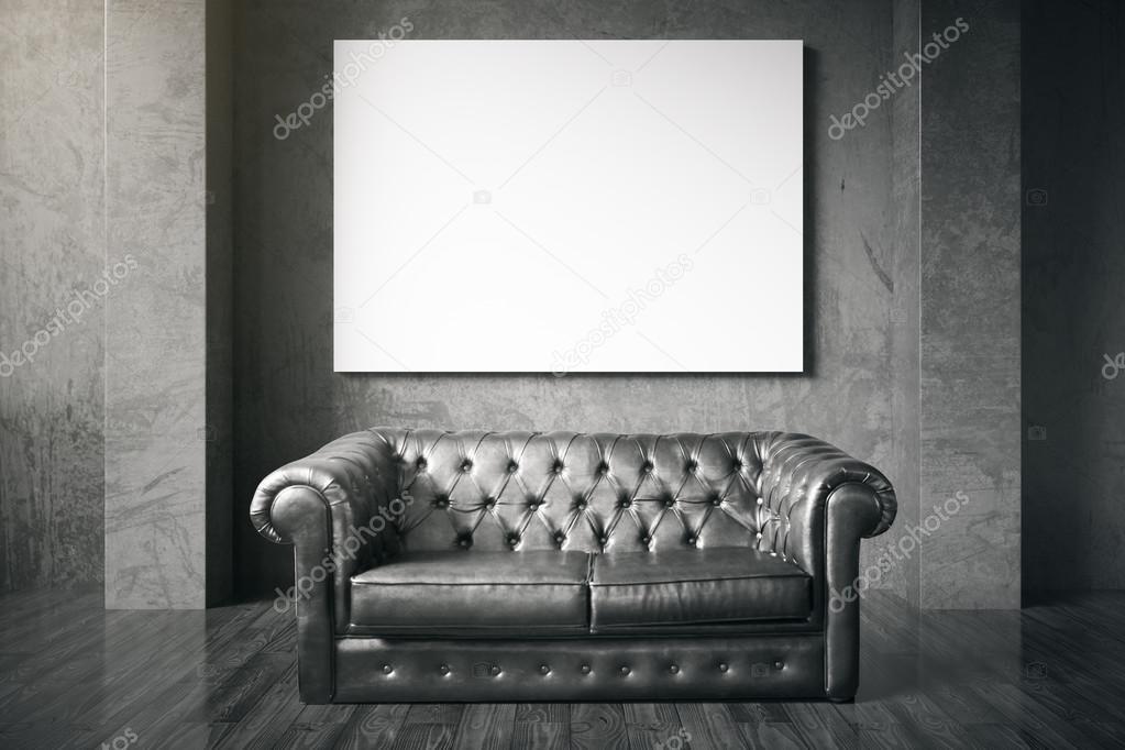 Tremendous Couch And Blank Billboard Stock Photo C Peshkova 117064642 Machost Co Dining Chair Design Ideas Machostcouk