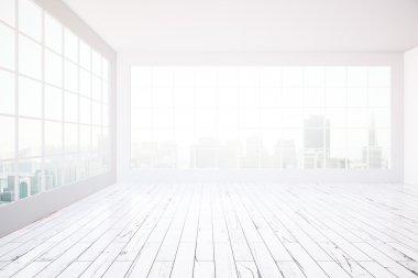 Bright white interior