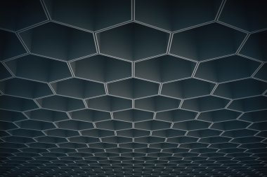 Dark honeycomb pattern