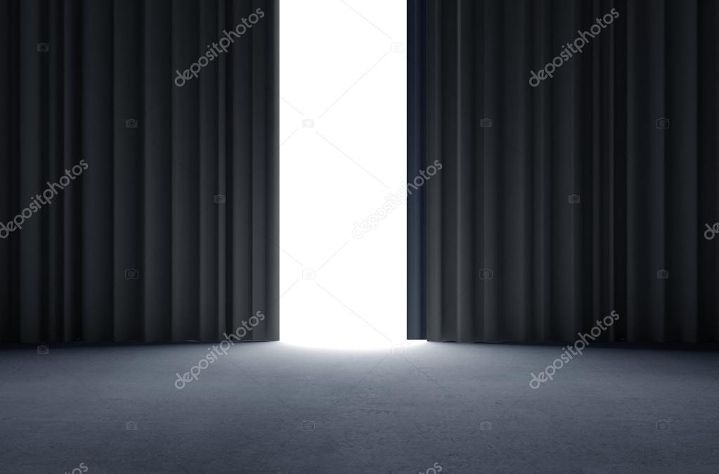 zwarte gordijnen — Stockfoto © peshkova #51840685
