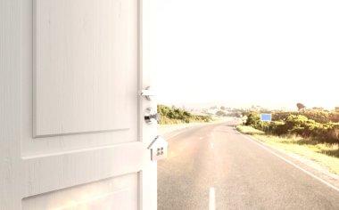opened door with key