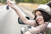 Fotografie Mädchen ein Auto