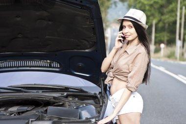 girl an car