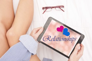 relationships online with tablet