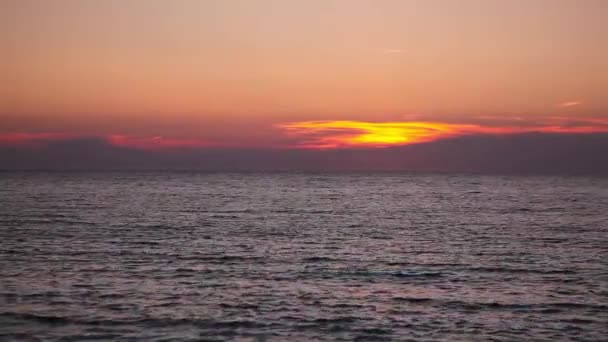 Dramatic sunset on the empty beach, Cape Cod, USA