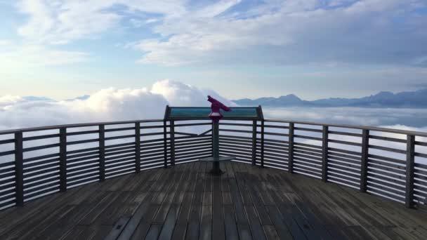 Úžasné ráno v Alpách Gerlitzen v Rakousku