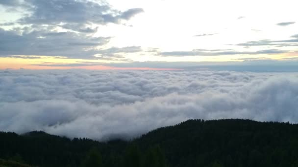 Úžasné ráno v Gerlitzen Apls v Rakousku
