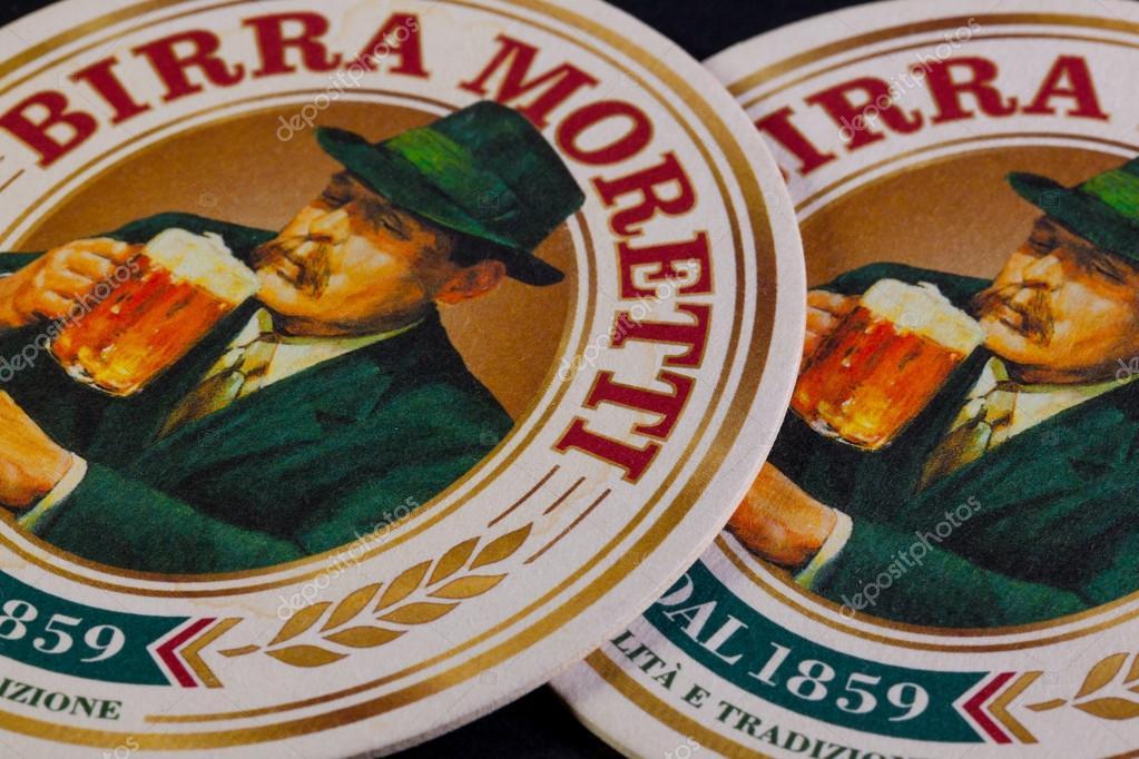Beermats from Birra Moretti beer