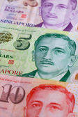 Singapurský Dolar hodnotu bankovky na stůl