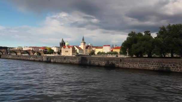 Strelecky island and Charles Bridge  in Prague