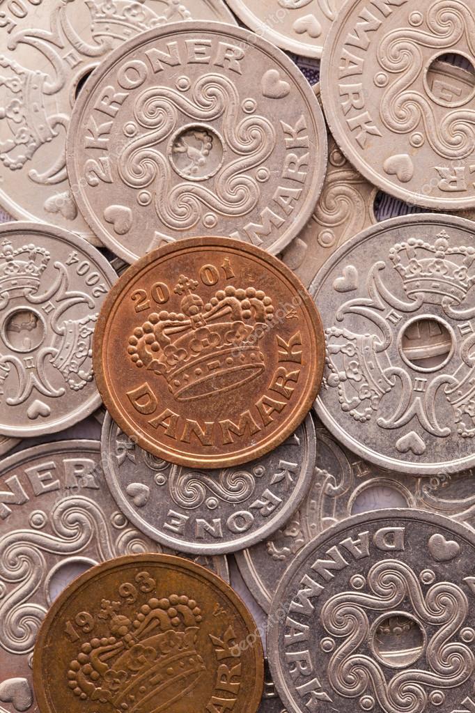 Verschiedene Münzen Dänische Geld Stockfoto Capturelight 95203086