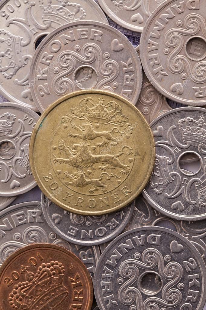 Verschiedene Münzen Dänische Geld Stockfoto Capturelight 99308220