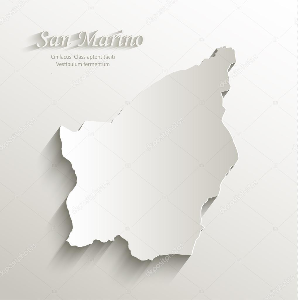 San Marino Map Card Paper D Natural Vector Stock Vector Mondi - San marino map download
