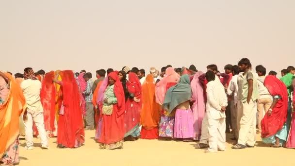 chudí lidé vesnice v poušti Rajasthan Indie