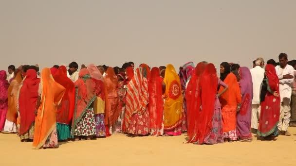 Dorf arme Menschen in der Wüste Rajasthan Indien