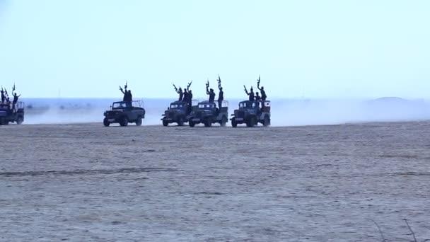 Bezpečnost na hranicích sil v poušti Rajasthan Indie