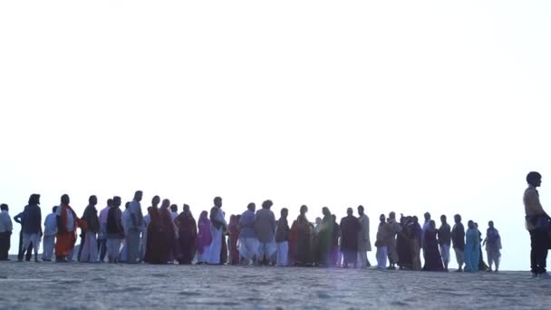 Silhouette of people in Desert Rajasthan India