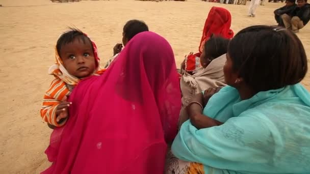 Mother and child in Desert Rajasthan India