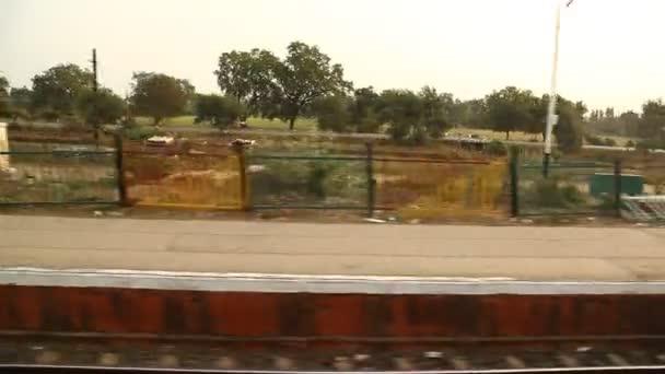 Train running Through station