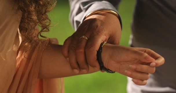 Father Holds His Daughter Hand