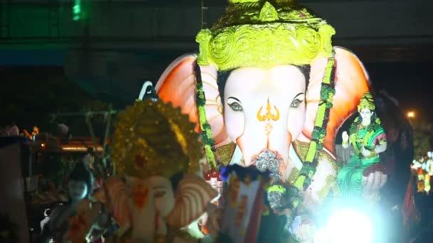 Lord Ganesha socha v Hyderabad Indie