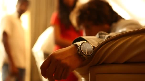 Closeup of Male Model with wrist watch
