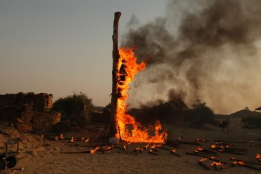 Filming in desert Rajasthan