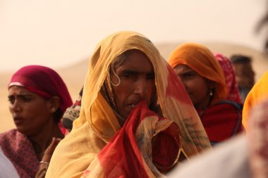 Poor People in Desert
