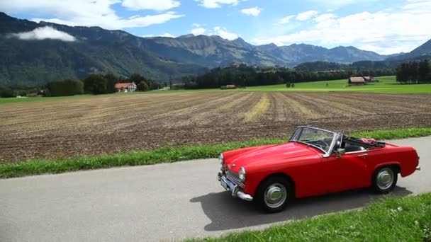 Vintage Red Car at Swiss