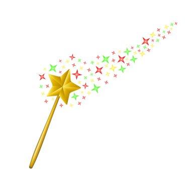 Magic wand with stream of stars