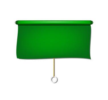 Vintage window sun blind cloth in green design