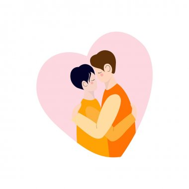 Couple in love. Valentine's Day. Vector image of a couple. icon