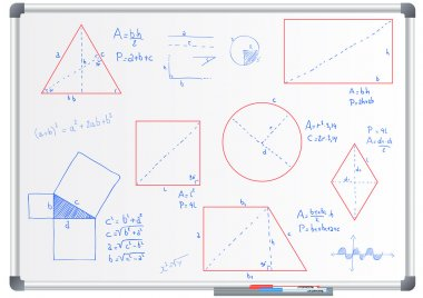 form and geometric whiteboard
