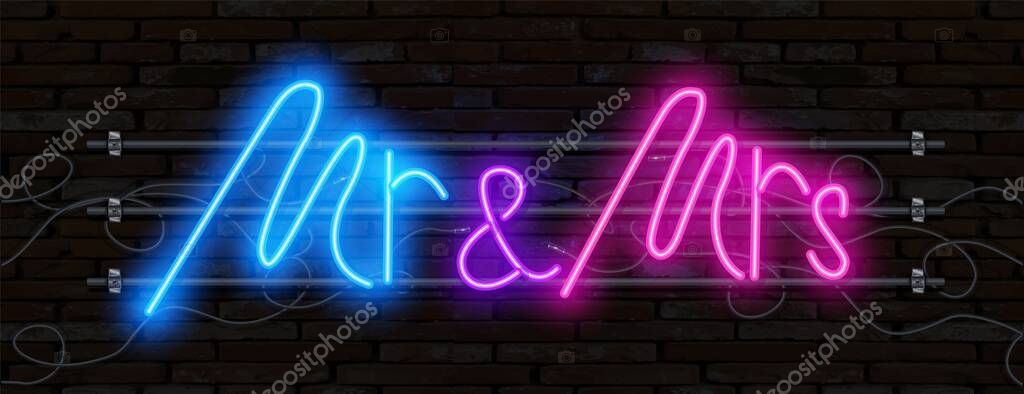 Neon sign. Logo design template. Light banner, glowing neon signboard for advertising. icon